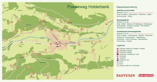 Plan für den Poesieweg Holderbank, 2014