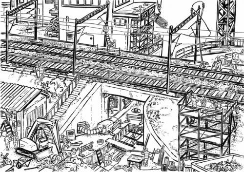 Illustration für eine Weiterbildung zum Thema Fahrstrom, 2014